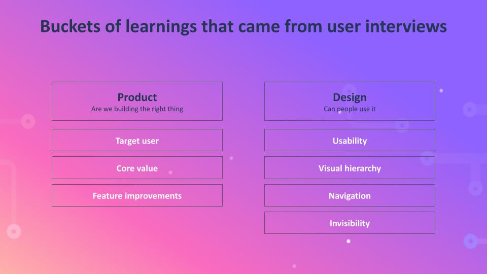 Buckets of Learnings Diagram