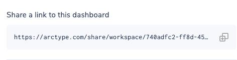 Dashboard Share via Link