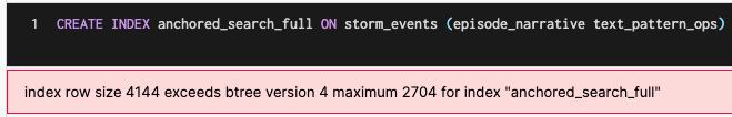 Pattern ops Size Limitation