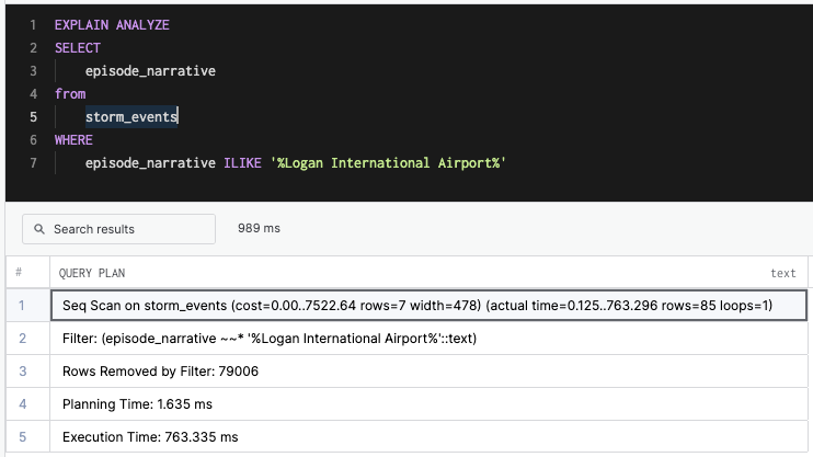 Logan International Airport Search Query Time